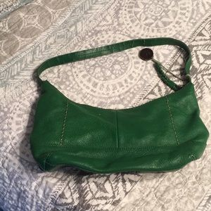 Small green leather the Sak purse